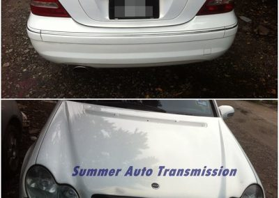 front and back of car